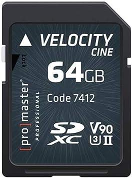 Amazon.com: Promaster SDHC 64 GB Velocity cine V90 UHS-II U3 ...