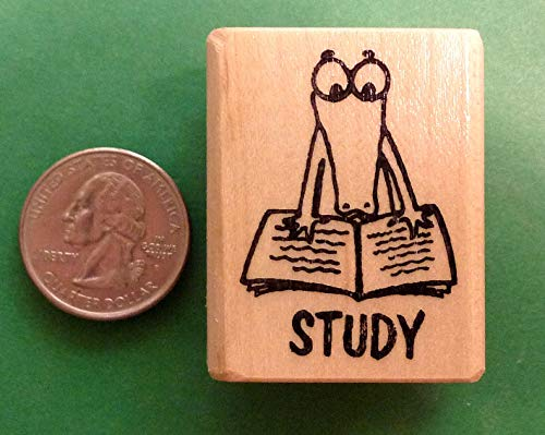 (Study Alligator, Teacher's Wood Mounted Rubber Stamp)