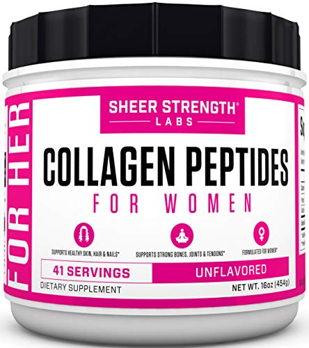 Collagen-Peptides-Powder-for-Women-Grass-Fed-Hydrolyzed-Collagen-Powder-for-Healthy-Hair-Skin-Nails-and-Joints-Keto-Paleo-Friendly-Flavorless-Powder-for-Sports-Recovery-Sheer-Strength-Labs
