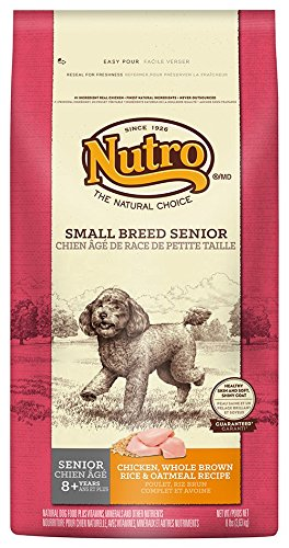 Nutro Small Breed Senior Dog Chicken, Whole Brown Rice and Oatmeal Dog Food, 8 lbs.