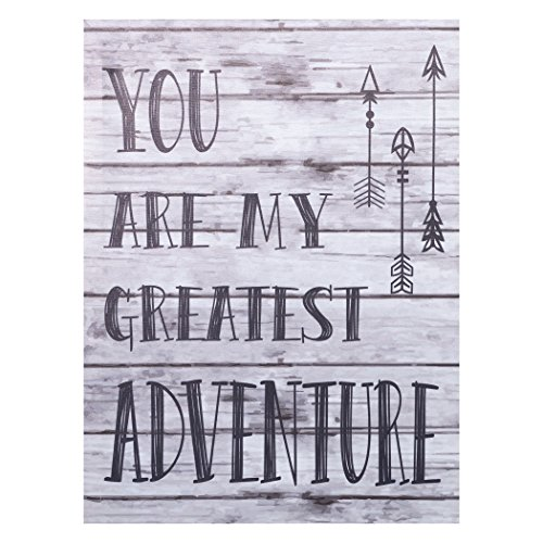 Trend Lab My Greatest Adventure Canvas Wall Art, Gray
