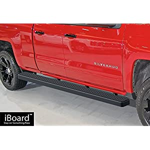 wheel to wheel running boards black custom fit 2007 2017 chevy silverado gmc. Black Bedroom Furniture Sets. Home Design Ideas