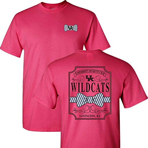 UK Bow Tie on a Pink Short Sleeve T ()