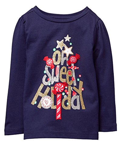 Gymboree Toddler Girls' Her Li'l Long Sleeve Graphic Tee, Ocean Trench, 3T from Gymboree
