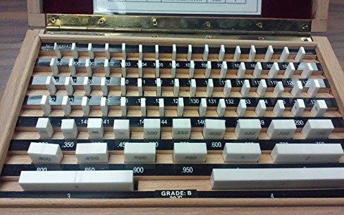 81 PCS/SET CERAMIC GAGE BLOCK, GRADE B , W. MANUFACTURER'S #702-CC-B CERTS