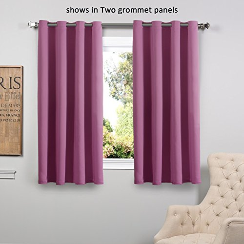 flamingop light blocking grommet top multiple sizes microfiber solid color blackout thermal insulated one panel each bag 63 by 52 inch