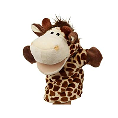 Soft Plush Giraffe Hand Puppet Cute Giraffe Shaped Hand Puppet toySoft to wear: Home & Kitchen