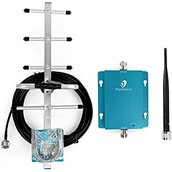 Phonetone GSM 3G 850MHz Phone Signal Repeater Witn 2 Antennas Yagi Antenna with Black Cable for AT&T Verizon Boost Voice (Whip+Yagi Antenna)