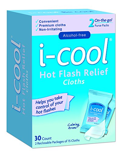 i-COOL Hot Flash Relief Cloths, 30 Count