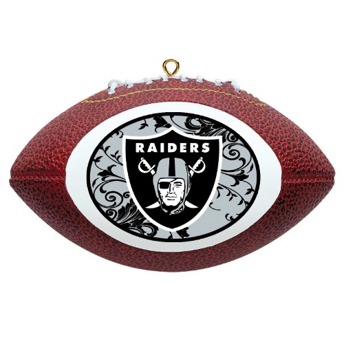NFL Oakland Raiders Mini Replica Football Ornament