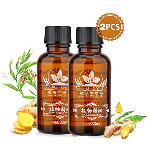30ml Ginger Essential Oil, Natural Plant Anti Aging Essential Oil SPA Massage Oils, Perfect for Aromatherapy-2 Pack (Best Oil For Blood Circulation)