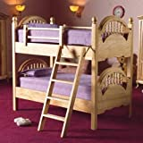 The Dolls House Emporium Pine Bunk Beds with Ladder
