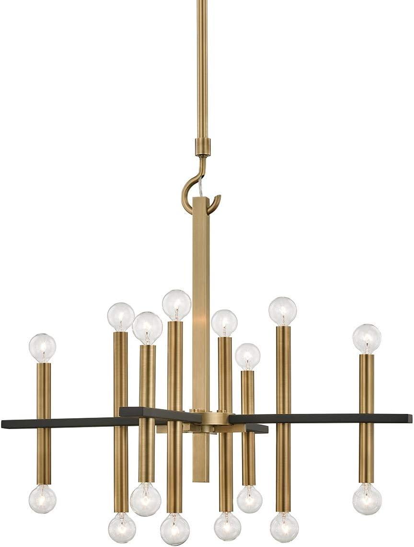 Mitzi Colette 28 3 4 Wide Aged Brass 16-Light Chandelier