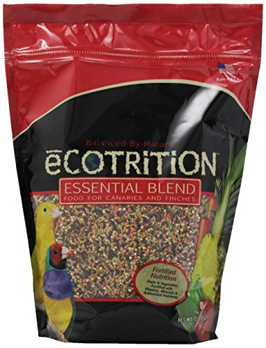 8 In 1 Pet Products BEOB2112 Ecotrition Essential Blend Canary and Finch Diet, 2-Pound