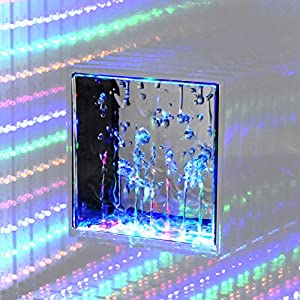 Desktop Wireless Bluetooth Hi Fi Stereo Speaker, Water Dancing and Infinity Pulse Light Speaker, LED Light Show, Party Speaker, Indoor Outdoor Bluetooth Sound Speaker, Party Speaker with Lights