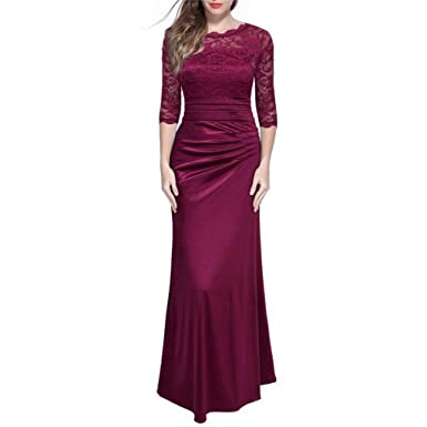 Autumn Vintage Dress Sexy Women Elegant Long Party Dress Full Sleeve Lace Maxi Dress Bodycon Dresses