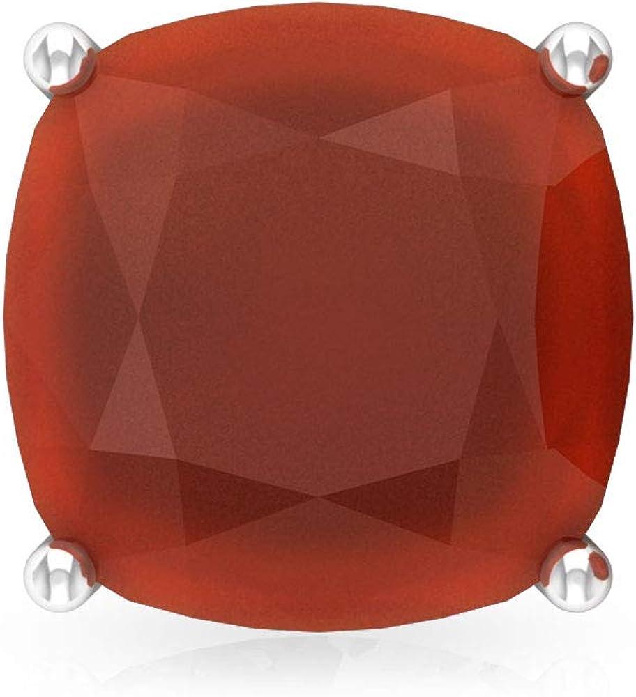 Pendientes de ónix rojo con certificado SGL de 2,8 quilates, con corte acolchado, solitario, estilo clásico, para mujer, con piedras preciosas de oro vintage, tornillo hacia atrás