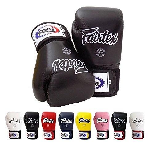 Fairtex Muay Thai Boxing Gloves BGV1 Size : 10 12 14 16 oz. Training sparring All purpose gloves for kick boxing MMA K1 (Solid Black, 14 oz)
