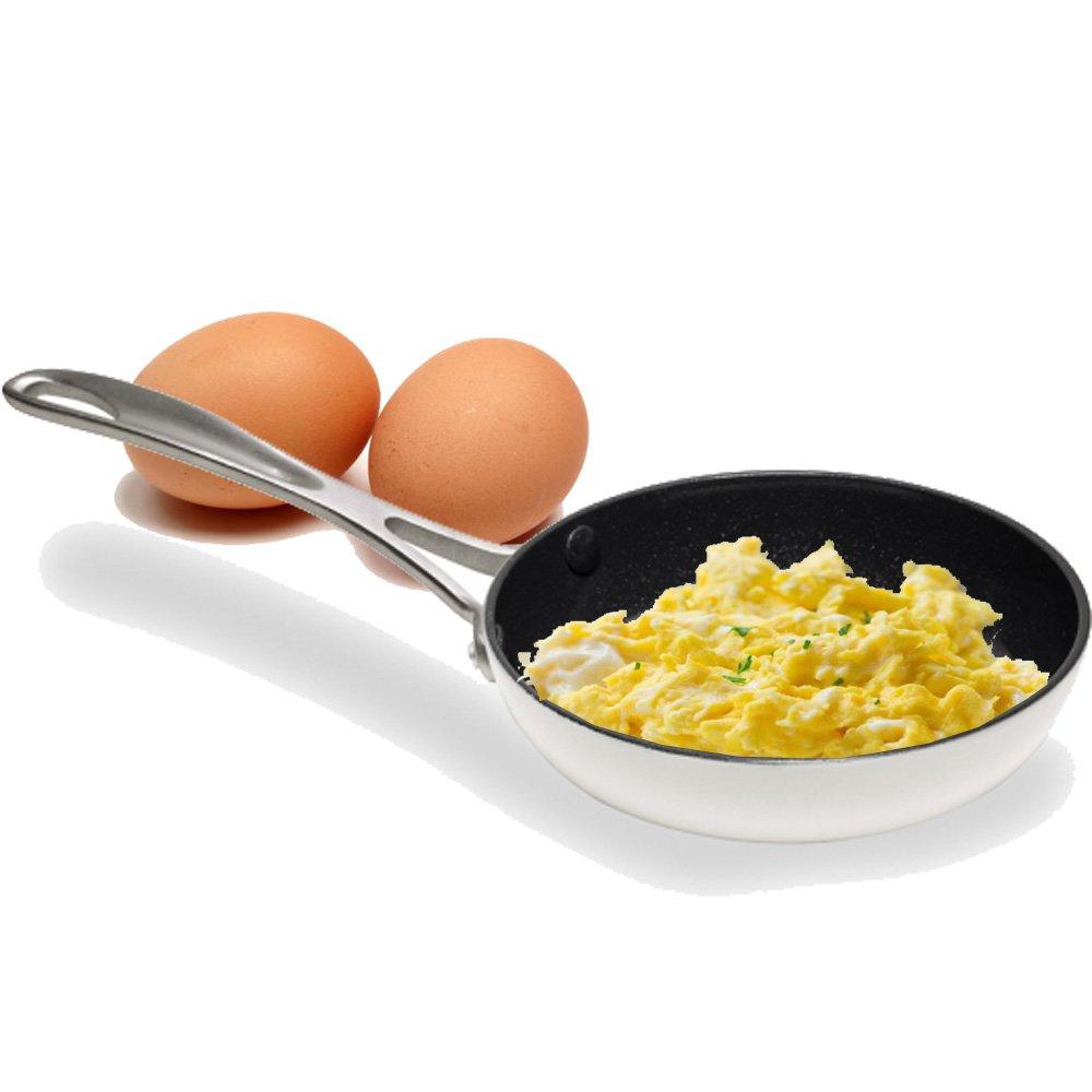 con Revestimiento de Aluminio a710014/14/cm Color Blanco Aubecq Evergreen/ /Sart/én para fre/ír Huevos