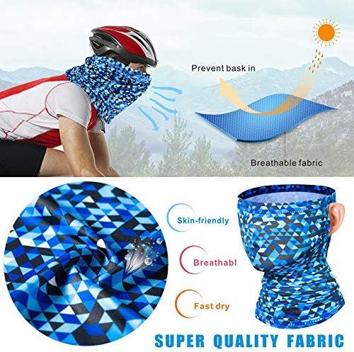 moto e corsa traspirante ciclismo Maschera protettiva per il collo unisex antivento escursionismo ideale come sciarpa per pesca protezione solare e dai raggi UV