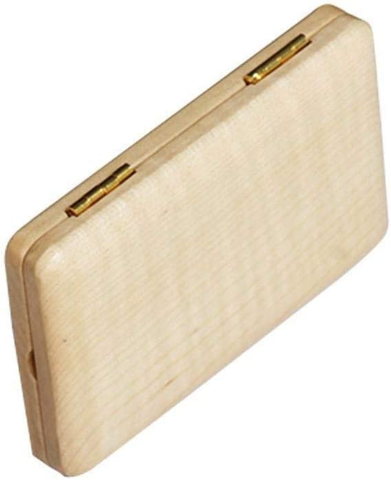Rockyin Portable Wood Wooden Reed Holder Case Box for 2Pcs Sax Clarinet Reeds Wood