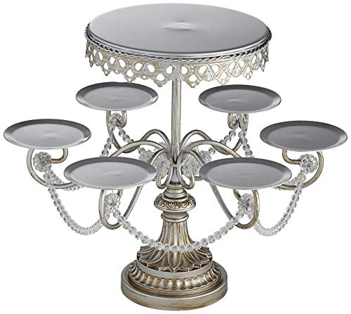 Dahlia Studios Elise Silver Cupcake and Cake Stand Crystal 17