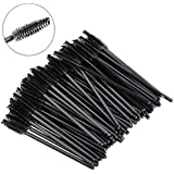Leegoal(TM) Disposable Eyelash Brushes Wands Mascara Applicator 100 Pack (Black)
