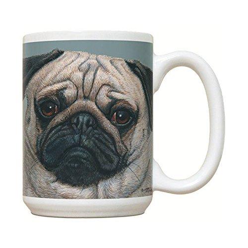 (Cute Pug Mug - Large White Coffee Mug)