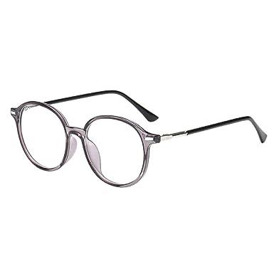 Hzjundasi Rond Cadre Petite vue Lunettes Myope Myopie Des lunettes CR-39  Résine Lentille -1.0~-6.0 avec Des lunettes Boîte (Ces sont pas lunettes de  ... a7de6ae4ee2