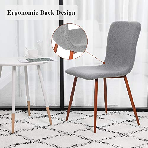Tremendous Coavas Set Of 4 Kitchen Dining Chairs Assemble All 4 In 5 Short Links Chair Design For Home Short Linksinfo