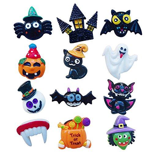 12 pcs - DIY Halloween series of resin Fridge Magnets Accessories,DIY Refrigerator Magnets Accessories