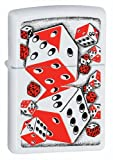 Zippo BS Dicey White Matte Lighter