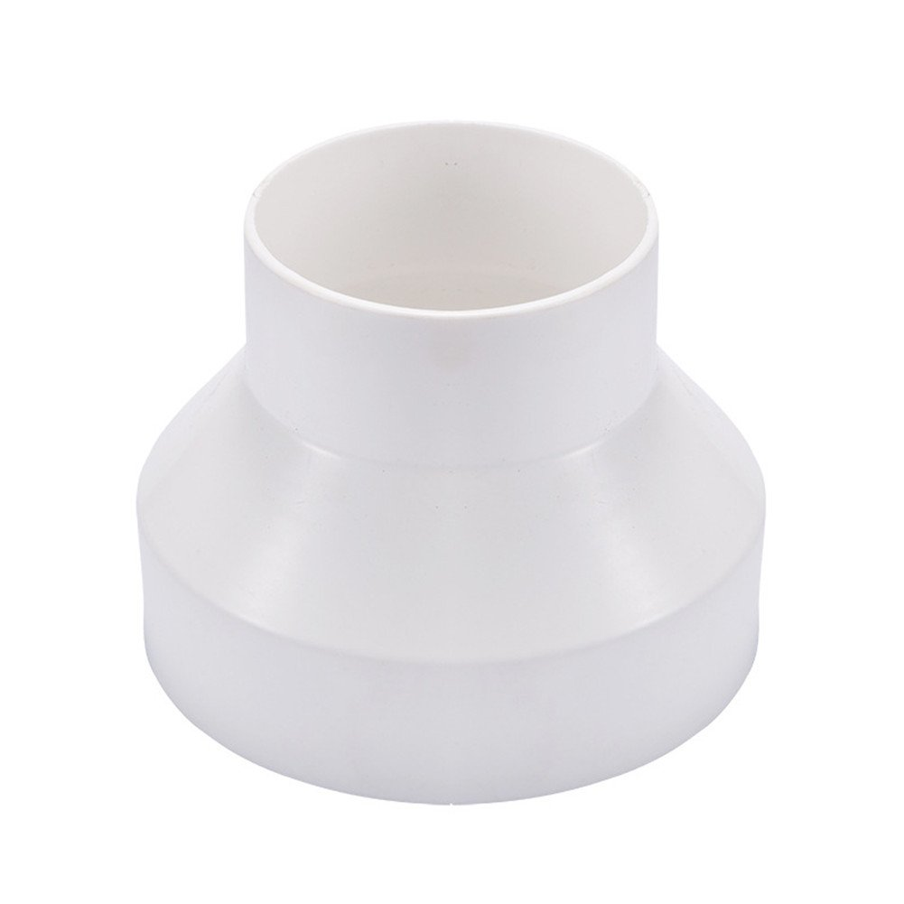 Hon&Guan 4' to 3' Straight Ducting Increaser/Reducer Adaptor for Extractor Fan (100mm to 75mm)