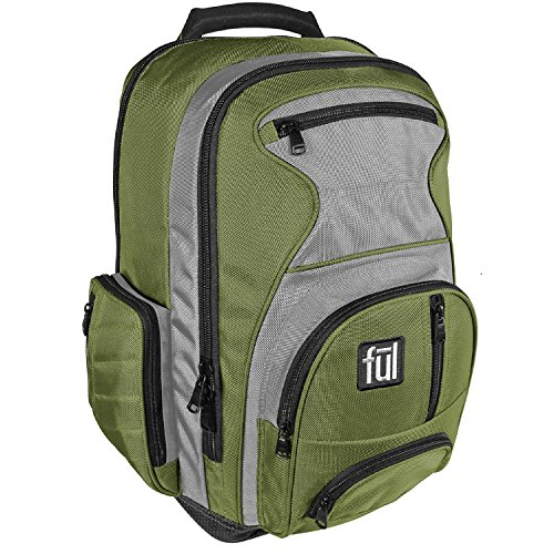 ful-free-fallin-padded-laptop-backpack-fits-up-to-17-inch-laptops-green-unisex