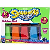 Skwooshi Mess Free Stretchable Sensory Dough RainbowNEVER DRIES OUT! by Skwoosh