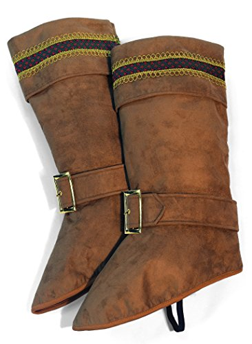 Forum Novelties Men's Deluxe Santa Boot Tops, Brown, One Size