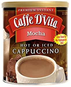 Caffe D'Vita Mocha Cappuccino, 16-Ounce Canisters (Pack of 6)