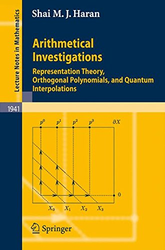 Arithmetical Investigations: Representation Theory, Orthogonal Polynomials, and Quantum Interpolations (Lecture Notes in