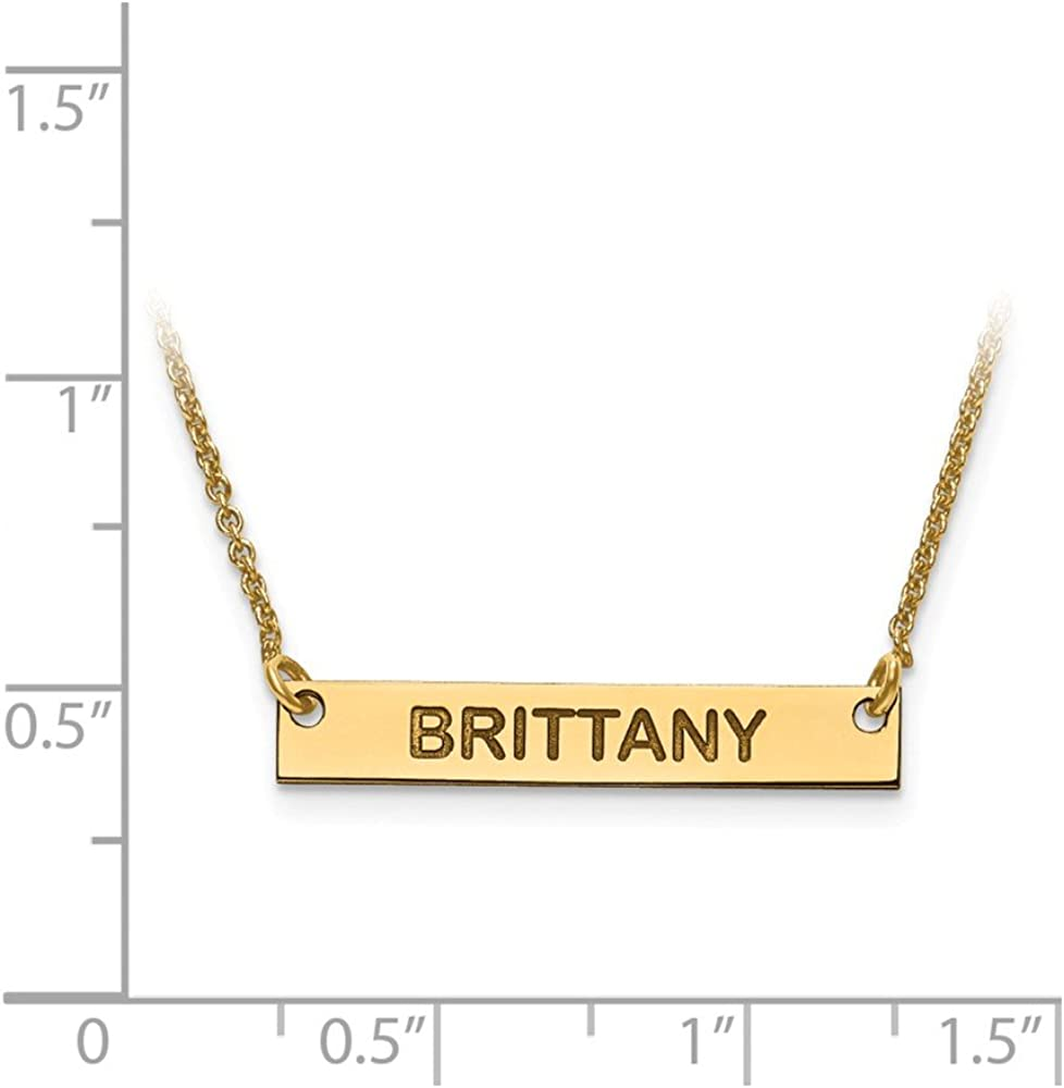 14K Yellow Gold With a Smile Name Necklace by JEWLR