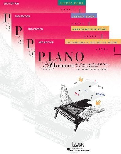 Faber Piano Adventures Level 1 Learning Library Set Includes Lesson, Theory, Performance, Technique & Artistry Books