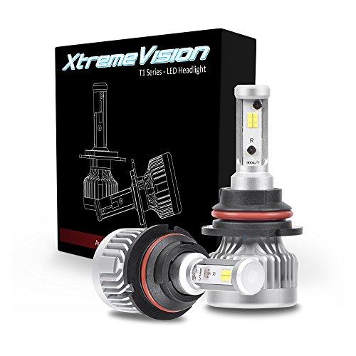 Es300 Headlamp Headlight - XtremeVision T1 72W 12000LM LED Bulb - 9004 Dual Beam LED Headlight Kit - 6500K Citizen Japan LED - 2019 Version - IP67 Waterproof