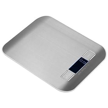 ZHANGYUGE 5/10kg-1g precisa Báscula de Cocina eléctrica de Alta precisión, Escala de Cocina Mini Báscula Electrónica portátil para pesaje de Frutas ...