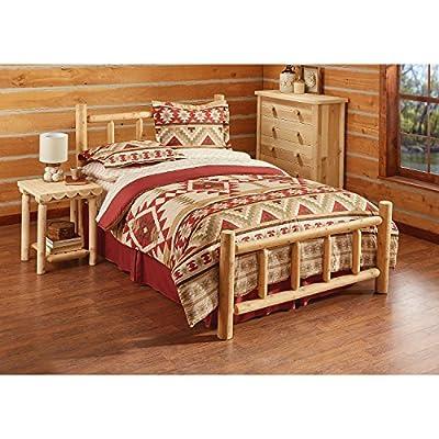CASTLECREEK Cedar Log Bed Queen