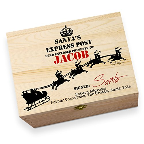 Christmas Eve Express (Personalised Santa's Express Post Large Traditional Printed Christmas Eve Box)