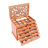 European Style Multi-layered Wood Princess Jewelry Box Retro Vintage Storage Box Jewelry Armoire Case (A)