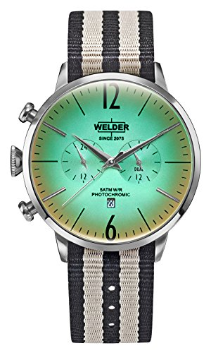 Welder Moody Stone Reversible Nylon Dual Time Watch with Date 45mm