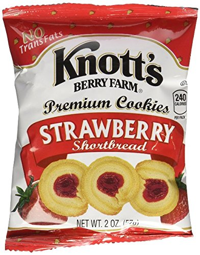 Knott's Berry Farm Strawberry Shortbread -36/2oz (Strawberry, 36 Pouches) (Strawberry Shortbread)