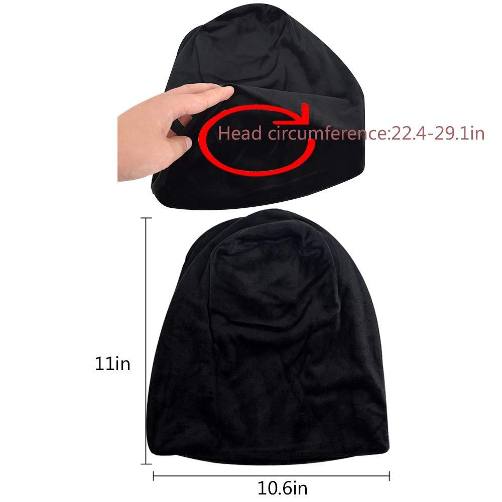 7bacbb1a25b YAOSEN Warm Winter Skull Cap Solid Color Velvet Hat Slouchy Beanie Cap  (Black) at Amazon Women s Clothing store