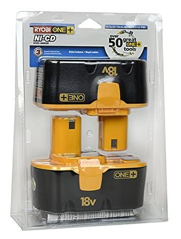 Ryobi P101 18-Volt One Plus Ni-Cd Batteries 2-Pack (Ryobi Drill 1 2 18v)