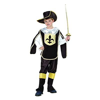 Bristol Novelty CC967 Musketeer Boy Costume, White, Small, Approx Age 3 -5 Years, Musketeer Boy (S): Toys & Games